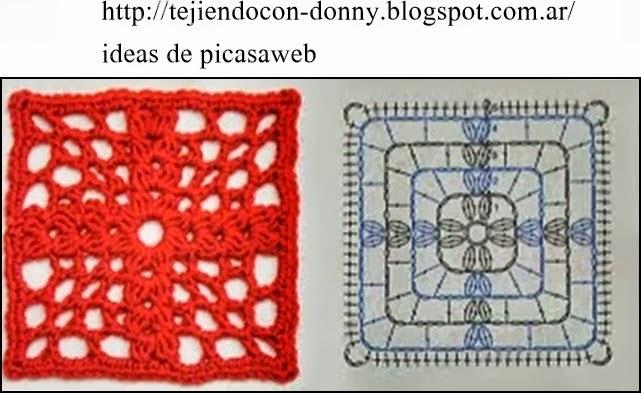 Granny square uncinetto schemi uncinetto piastrelle - Piastrelle all uncinetto schemi ...