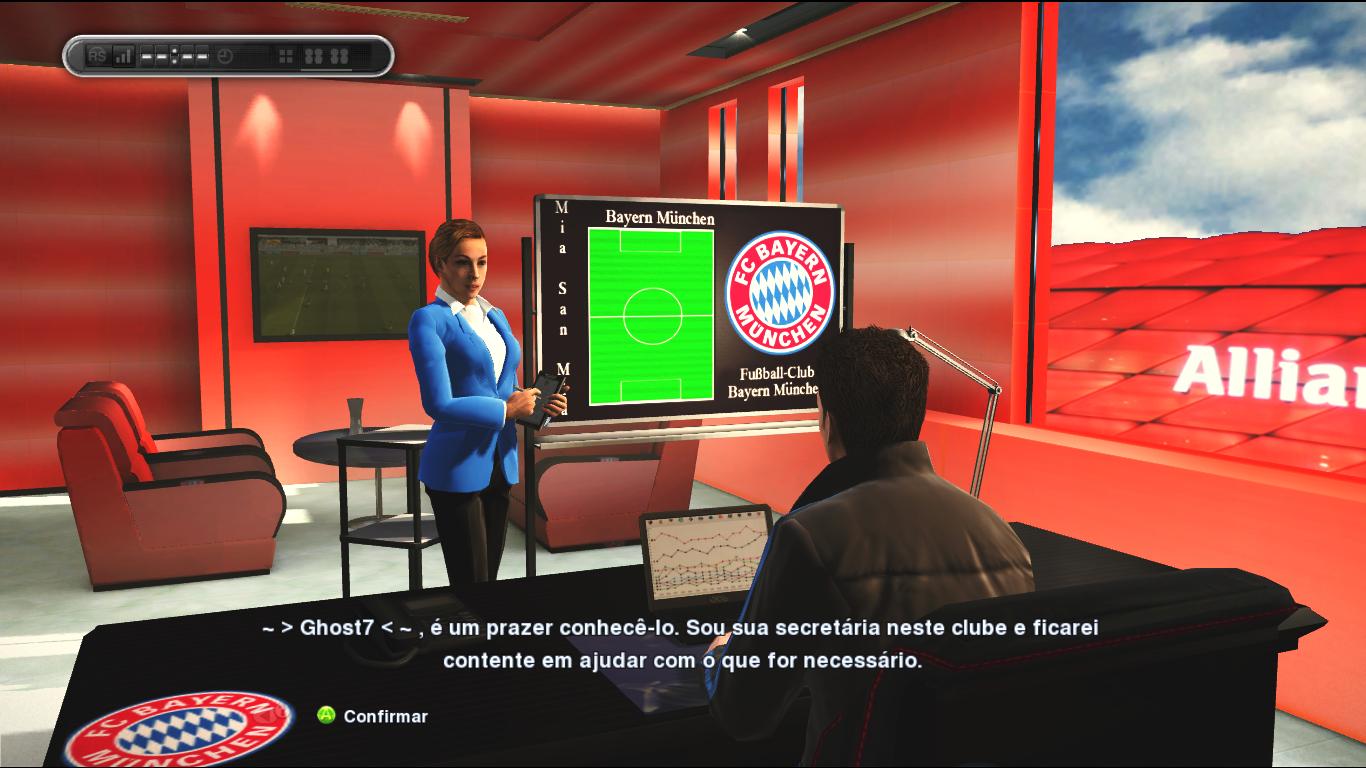 Sala de Treinador do Bayern de Munique - PES 2013