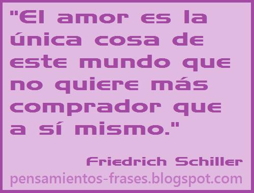 frases de Friedrich Schiller