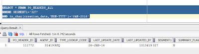 Oracle RFQ  query