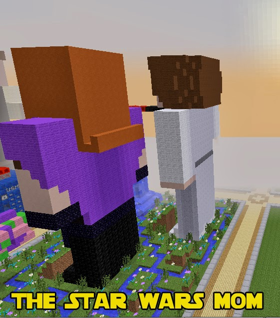Minecraft Mara Jade and Princess Leia Back View of Build