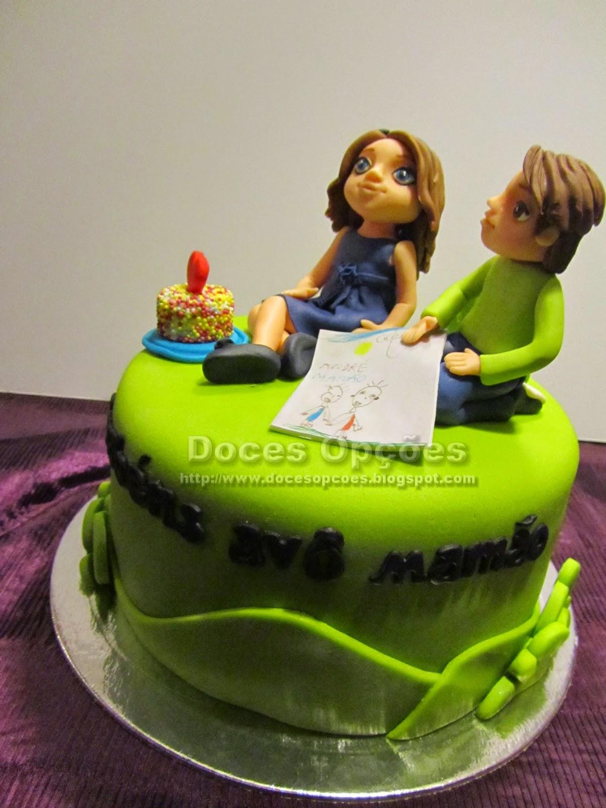 bolo aniversário netos