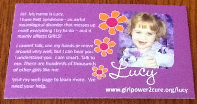 Lucy's purple card: