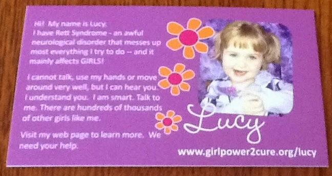 Lucy's purple card:
