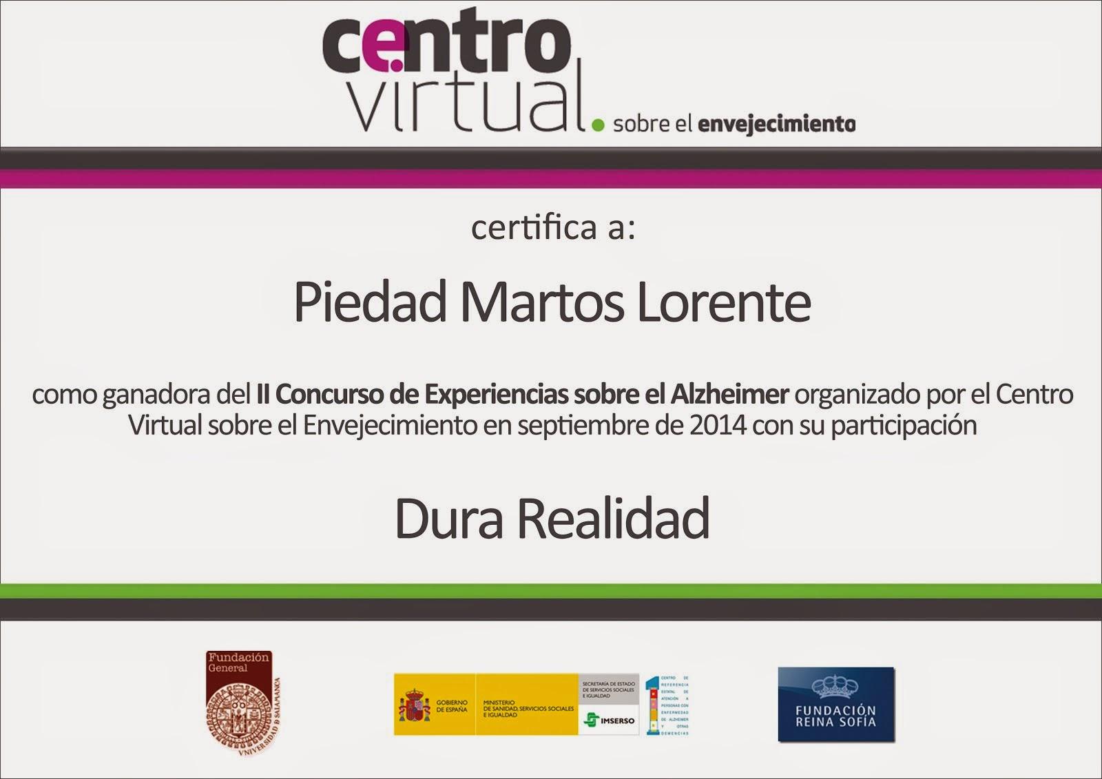 II Concurso Experiencias Alzheimer