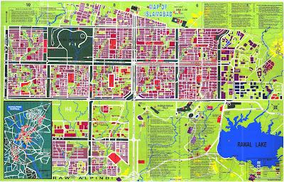 Mapa da cidade de Islamabad – Paquistão