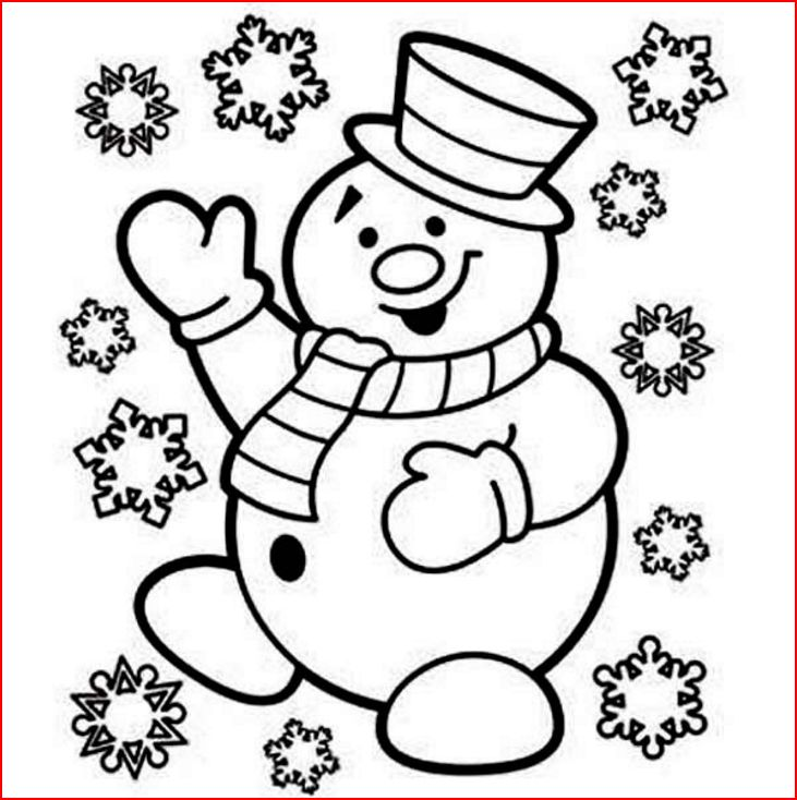 christmas snowman coloring pages - coloring pages christmas snowman coloring pages free and