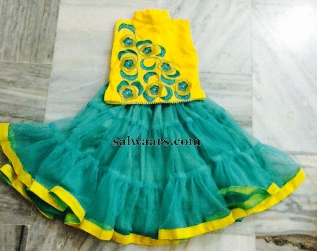 Pleats Skirt in Dual Color