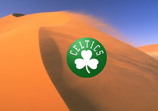 Boston Celtics Logo Wallpapers for the fans in Desert Wind background