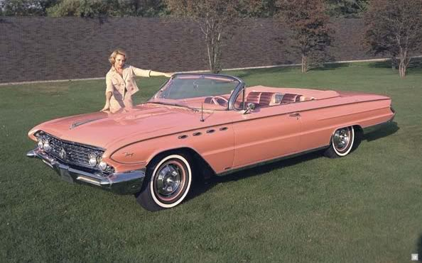 Pink Vintage Buick Convertible Car Sale