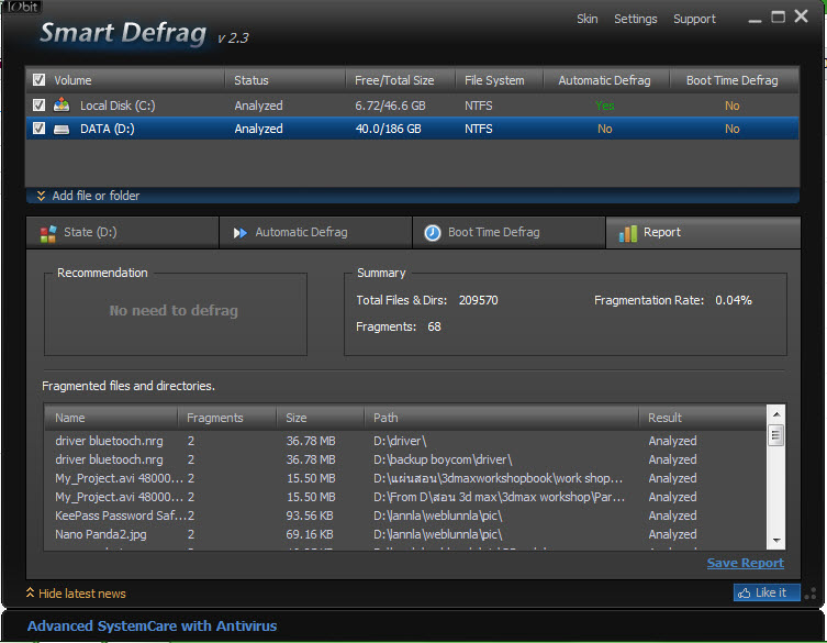 download smart defrag 2.3 crack
