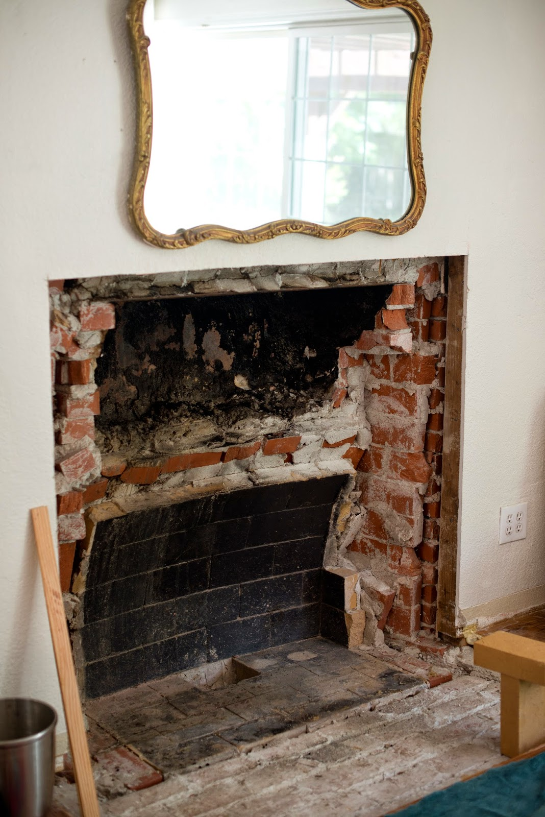 domestic fashionista uncovering our hidden fireplace