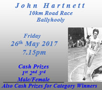 10k race near Fermoy in NE Cork...Fri 26th May 2017
