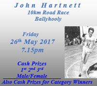 10k race near Fermoy in NE Cork...Fri 26th May 2017