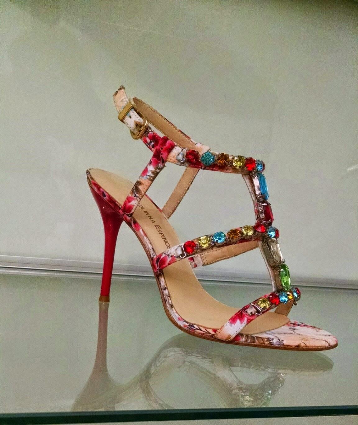 Carolinna Espinosa Jeweled Floral Sandal