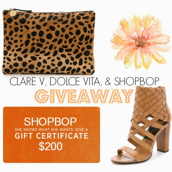 free, instagram giveaway, loop giveaway, clare v leopard clutch, shop bop