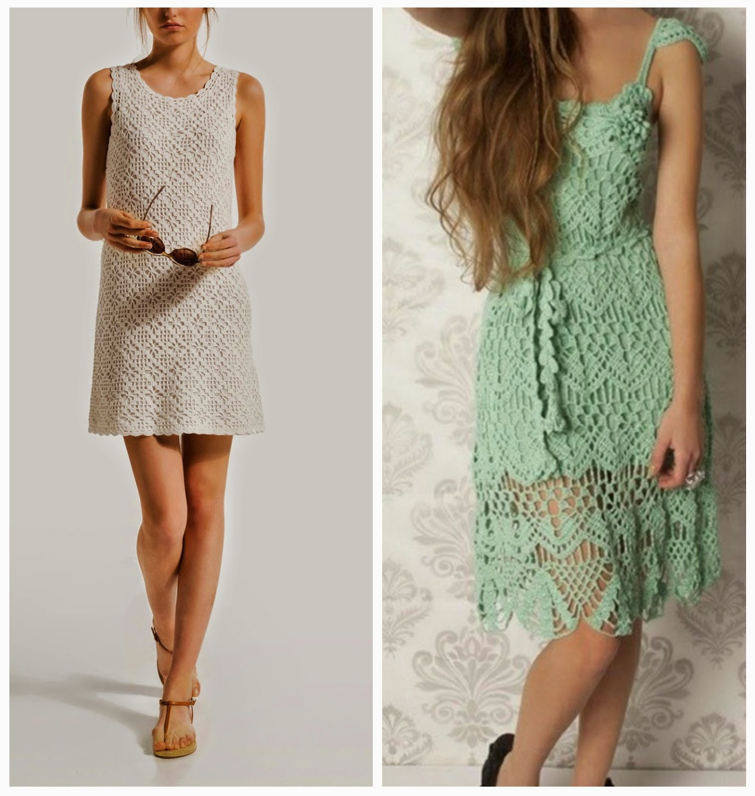 How To Crochet Dress Free Patterns : Little Treasures: 15 Crochet Dresses - free patterns and ...