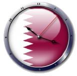 علم قطر  Mauritania flag clock