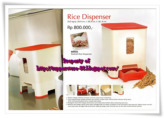 Tupperware-Rice Dispenser
