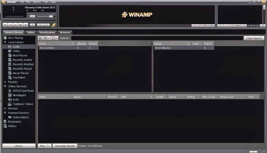 Winamp 5.666 Full Version Terbaru 2015 screenshot