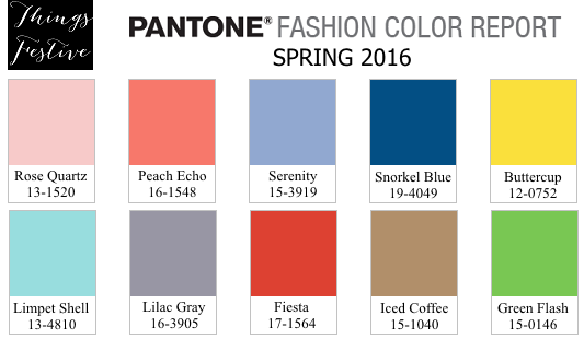 Pantone Spring 2016 Color Report Wedding Color Inspiration Things Festive