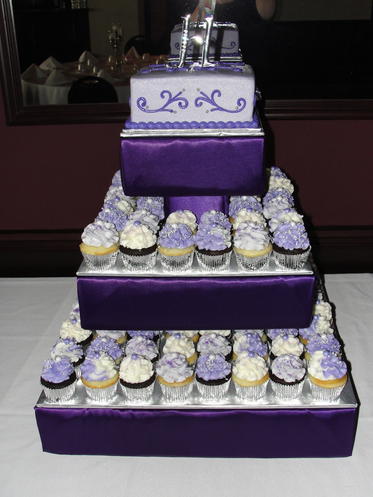 Blue And Purple Wedding Cupcakes for Pinterest