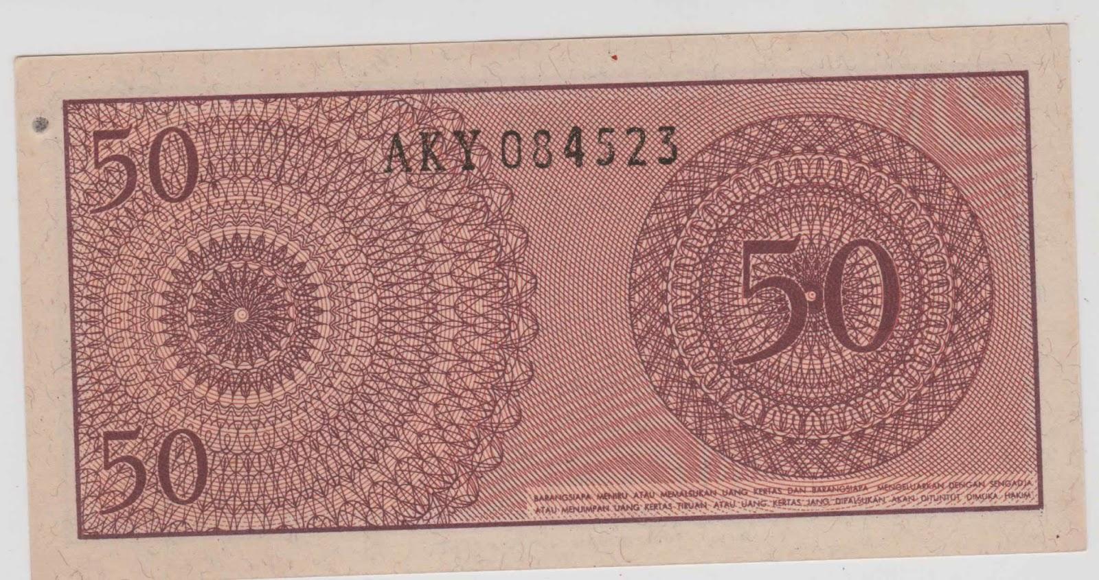 uang kuno Seri Sukarelawan tahun 1968 pecahan 50