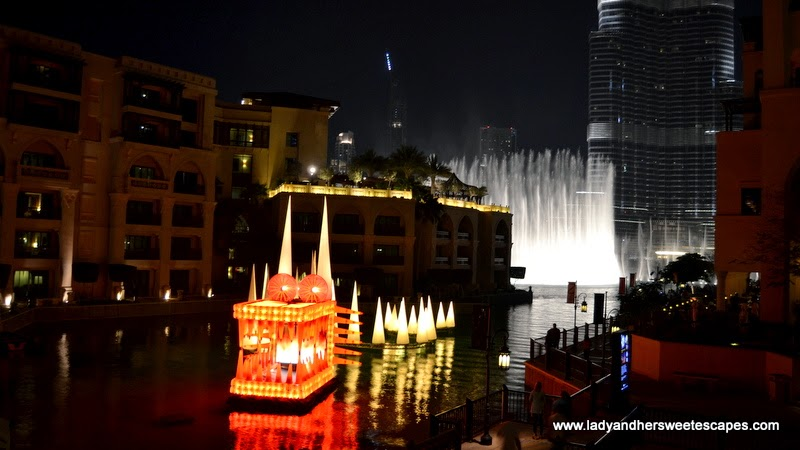 The Water Dragon at Dubai Festival of Lights