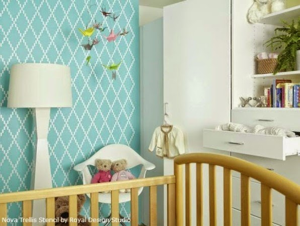 nursery wall stencil patterns