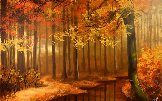 Forest Water Color Painting