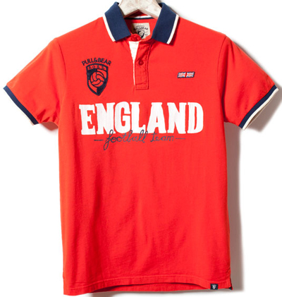 polo Inglaterra Eurocopa 2012 Pull and Bear