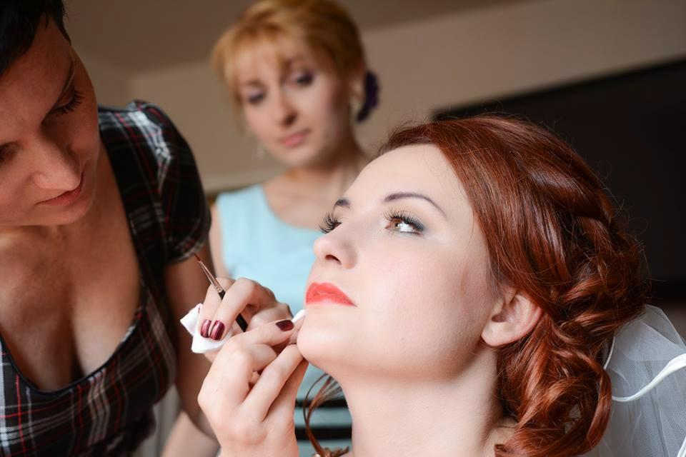 makijaż ślubny dla rudej
