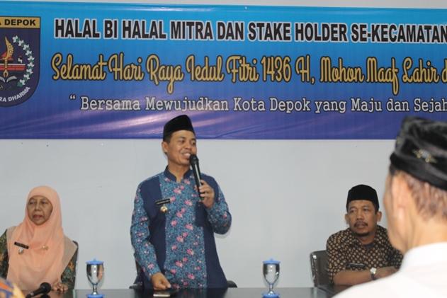 Walikota Minta Warga Cinere Berkontribusi dalam Pembangunan