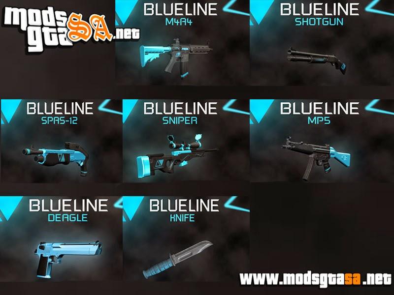 SA - Pack de Armas BlueLine