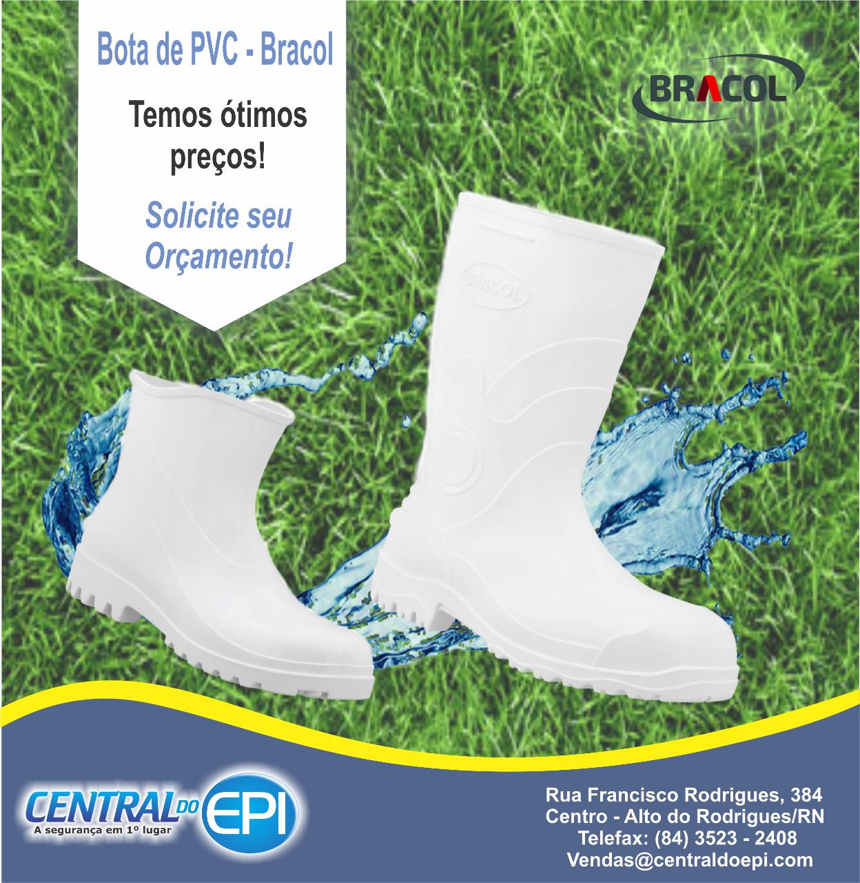 Tem promoção de botas PVC na Central do EPI