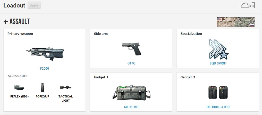 Mude seu equipamento diretamente pelo Battlelog Loadout1