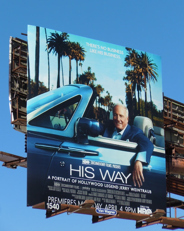 His Way Jerry Weintraub TV billboard