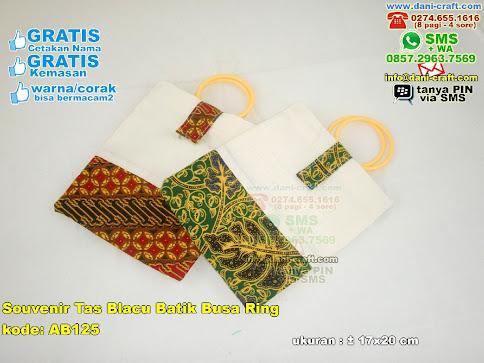 Souvenir Tas Blacu Batik Busa Ring