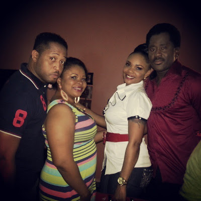 Mike Ezuruonye,Dayo Amusa,Iyabo Ojo,Desmond Elliot spotted on set of Unforgivable