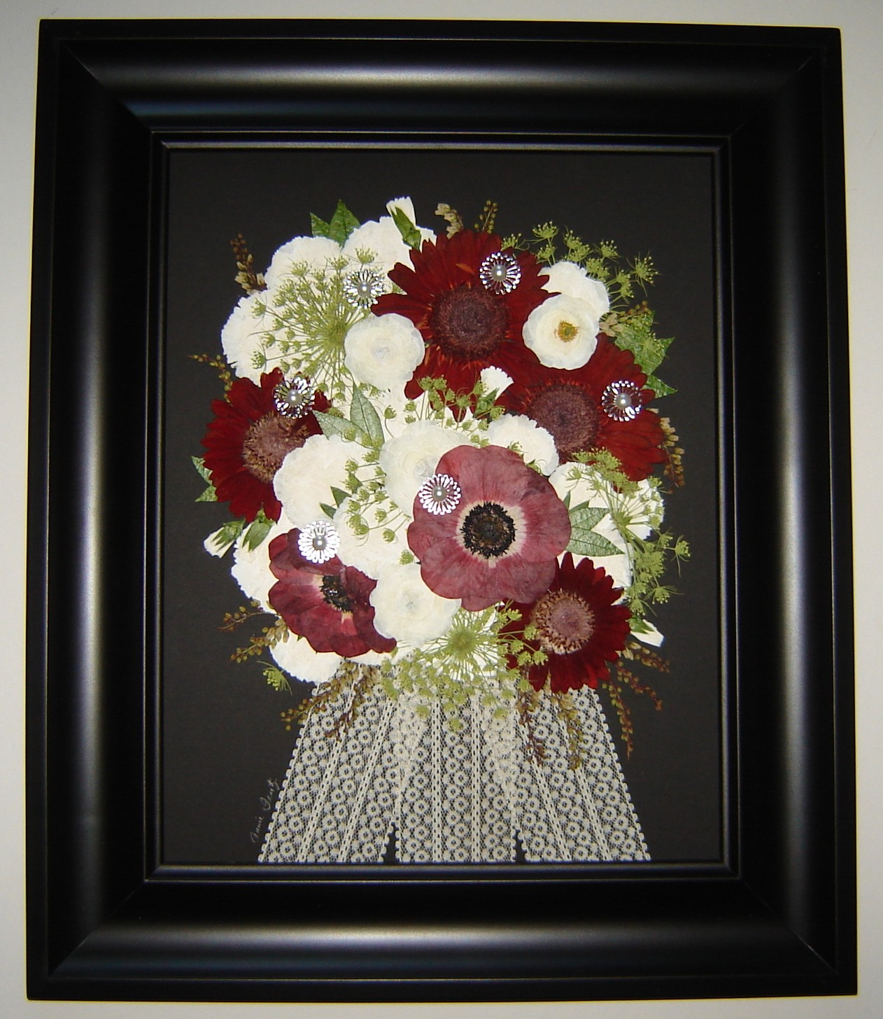Pressed garden april 2013 elizabeths bridal bouquet preserved junglespirit Images