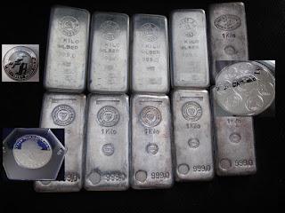 Sälja silvertacka för hög silverpris