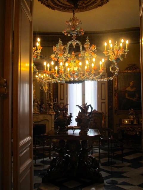 nice murano lamp at museo cerralbo