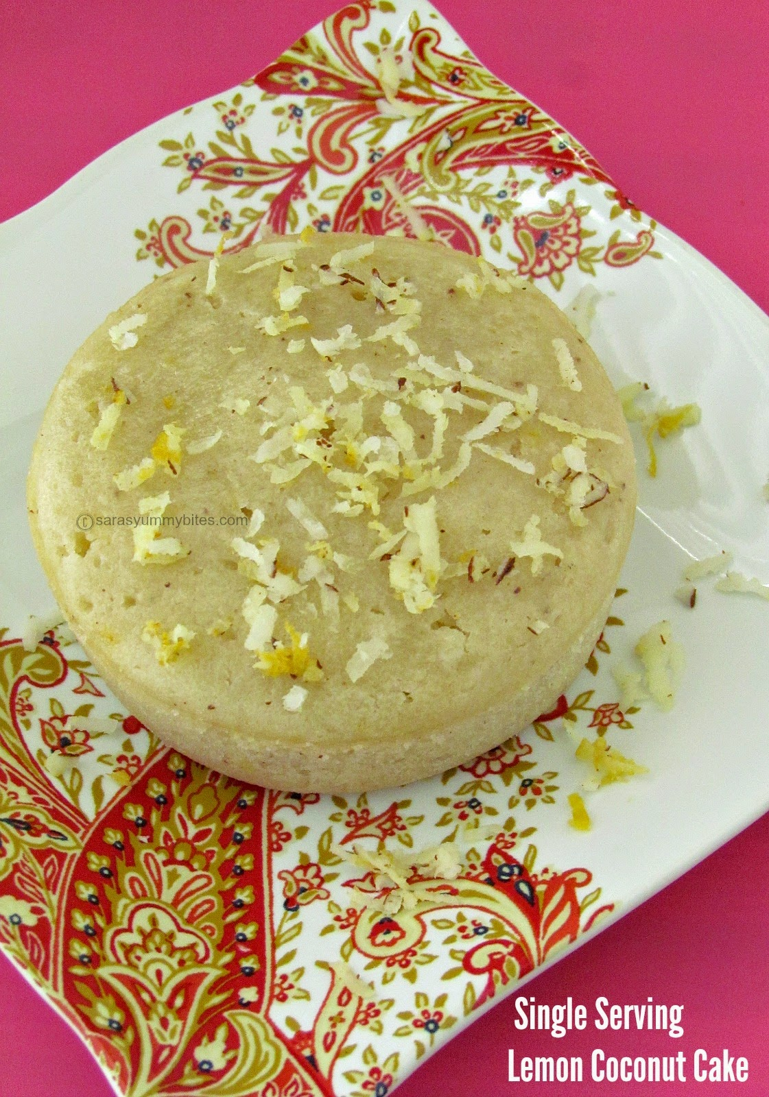 Single Serving Lemon Coconut Cake ( Eggless)