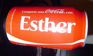 Mis recuerdo de ayer y de hoy: Nombre en la CocaCola. Comparte una Coca-Cola con Esther.