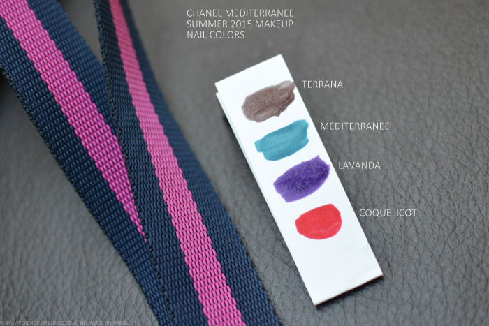 Chanel Mediterranee Summer 2015 Makeup Collection Le Vernis Terrana Lavanda Coquelicot