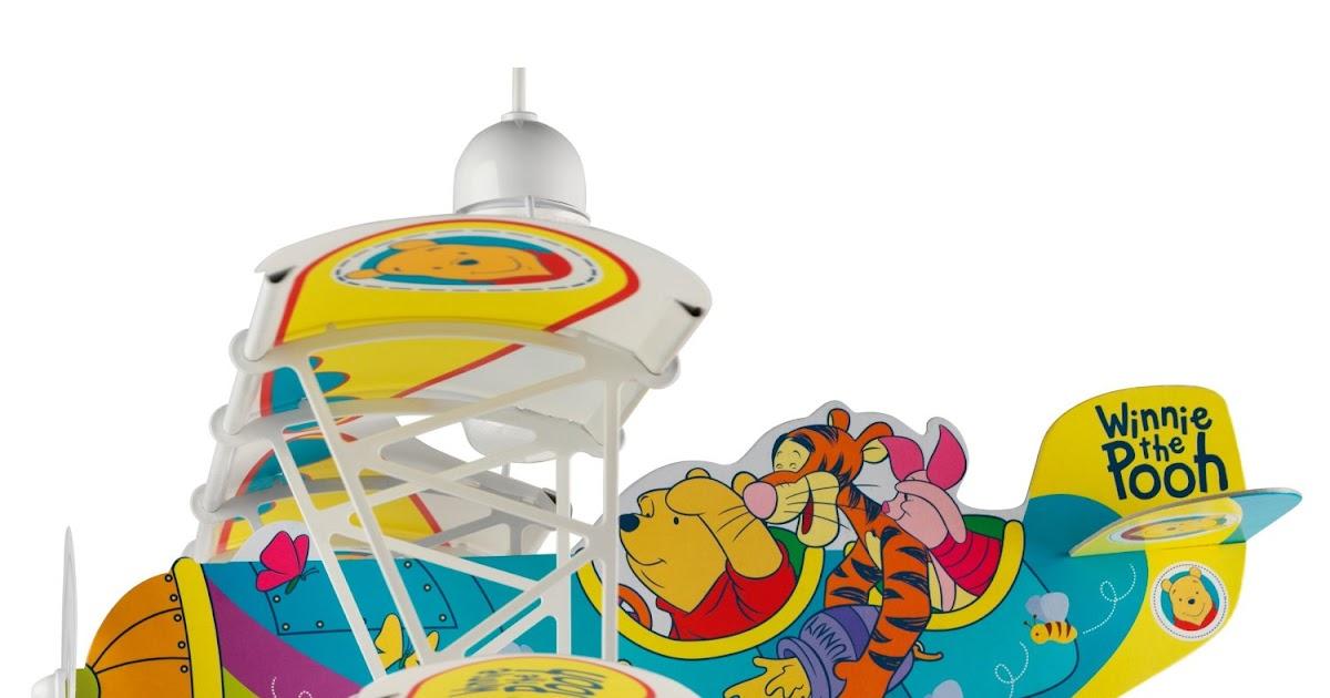 decken und wandleuchten dalber 54662 h ngeleuchte flugzeug winnie the pooh kinderzimmer lampe. Black Bedroom Furniture Sets. Home Design Ideas