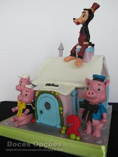 bolo casa 3 porquinhos lobo bragança