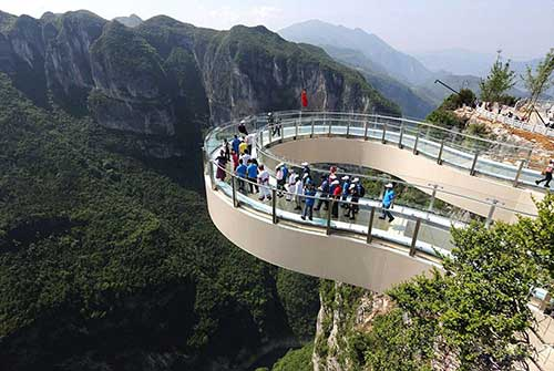 Longgang National Geological Park Skywalk.