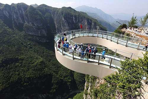 Longgang National Geological Park Skywalk.