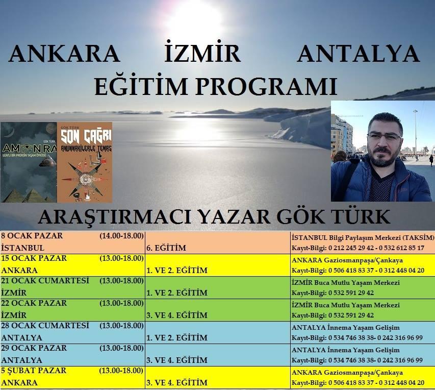 ANKARA-İZMİR-ANTALYA EĞİTİMLERİ PROGRAMI (OCAK-ŞUBAT 2017)